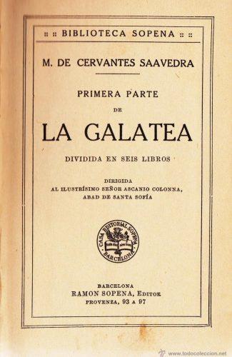 La Galatea– Miguel de Cervantes